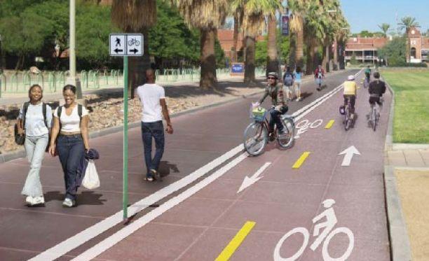 bike lanes adjacent to walk lane